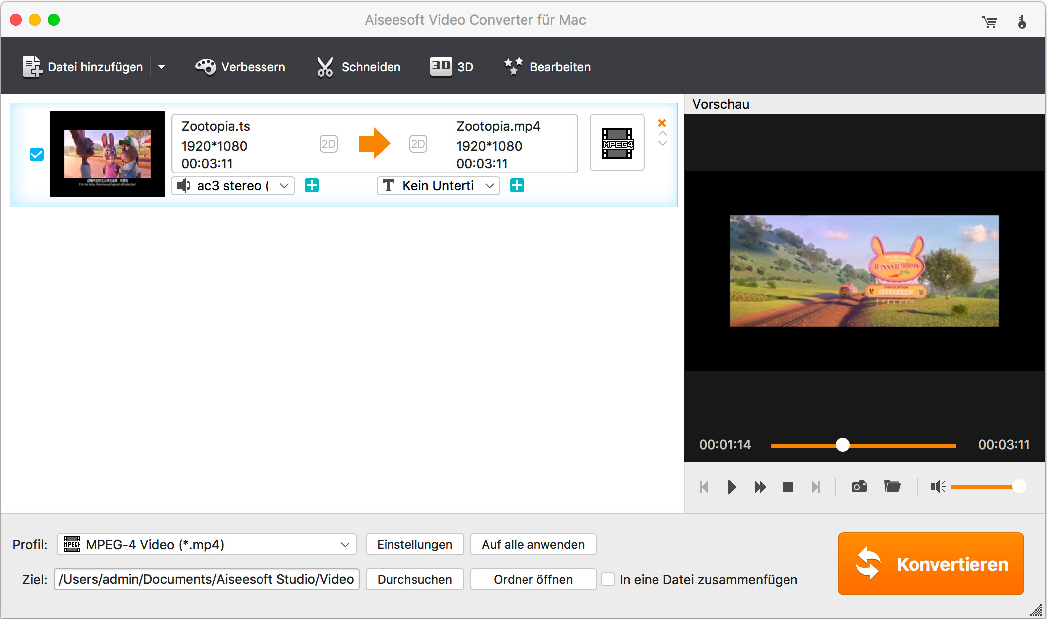 Video Converter Ultimate dateien importieren