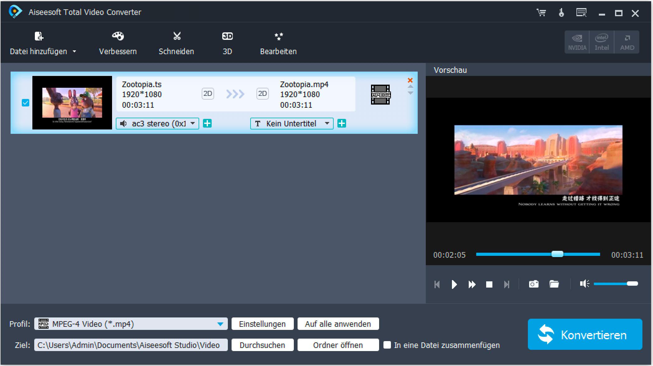 TS Video Converter - *.ts-Videoformat umwandeln/*.ts Dateien in AVI ...
